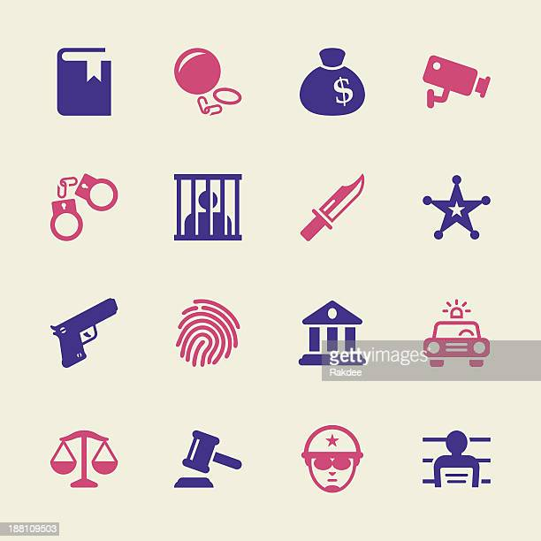 Gerechtigkeit und Gesetz Icons-Color-Serie