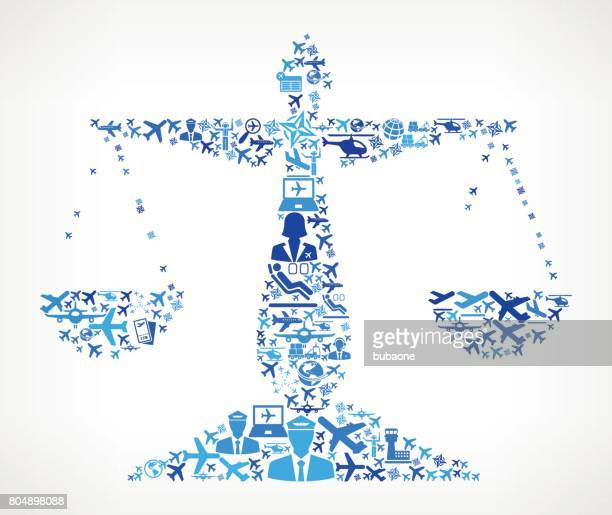 Justice Balance  Aviation and Air Planes Vector Graphic