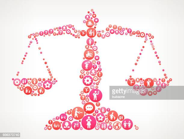 Justice Balance  Women ,   Icons Vector Background