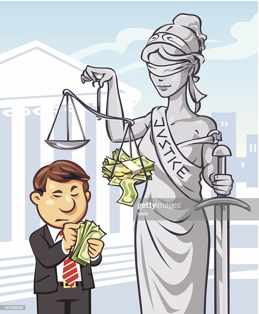 Justice is Expensive : stock illustration
