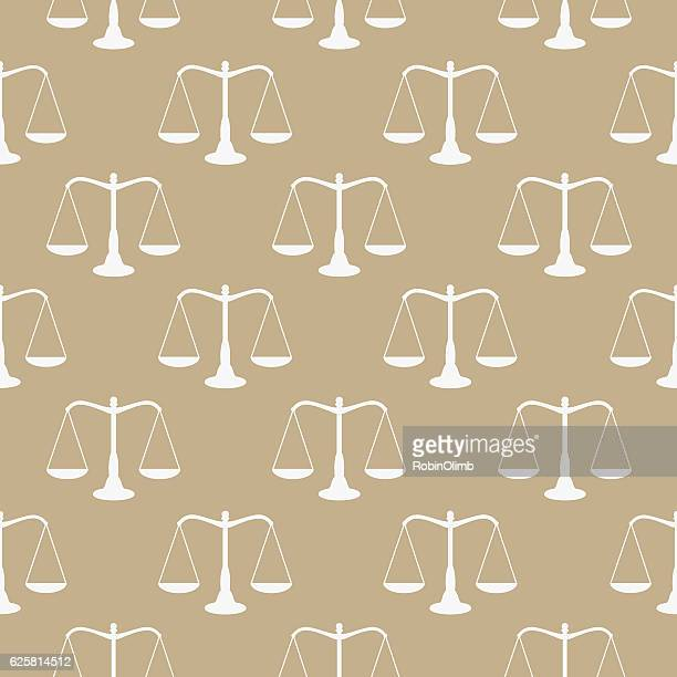 Justice Scale Seamless Pattern