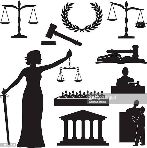 ilustraciones, imágenes clip art, dibujos animados e iconos de stock de silueta de justicia - ojos tapados