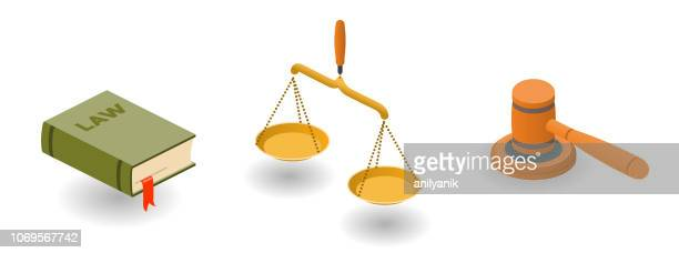 justice - scales stock illustrations