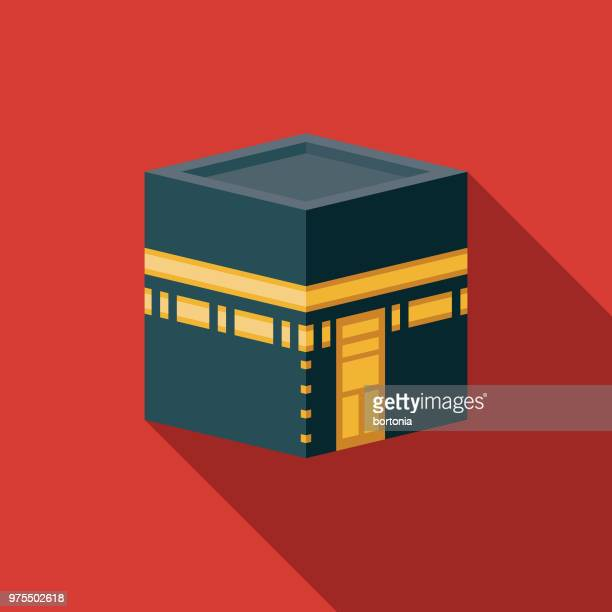 kaaba-flachen design-ramadan-ikone - allah stock-grafiken, -clipart, -cartoons und -symbole