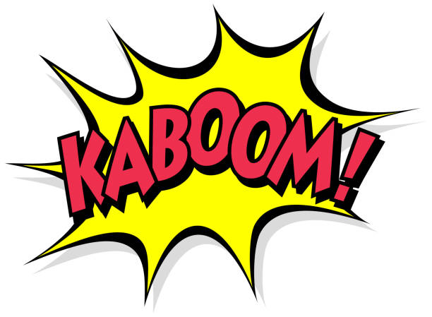kaboom - bubble stock illustrations
