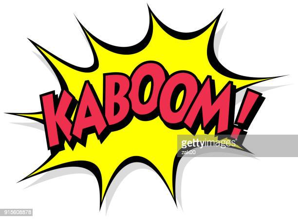 kaboom - comic book stock illustrations