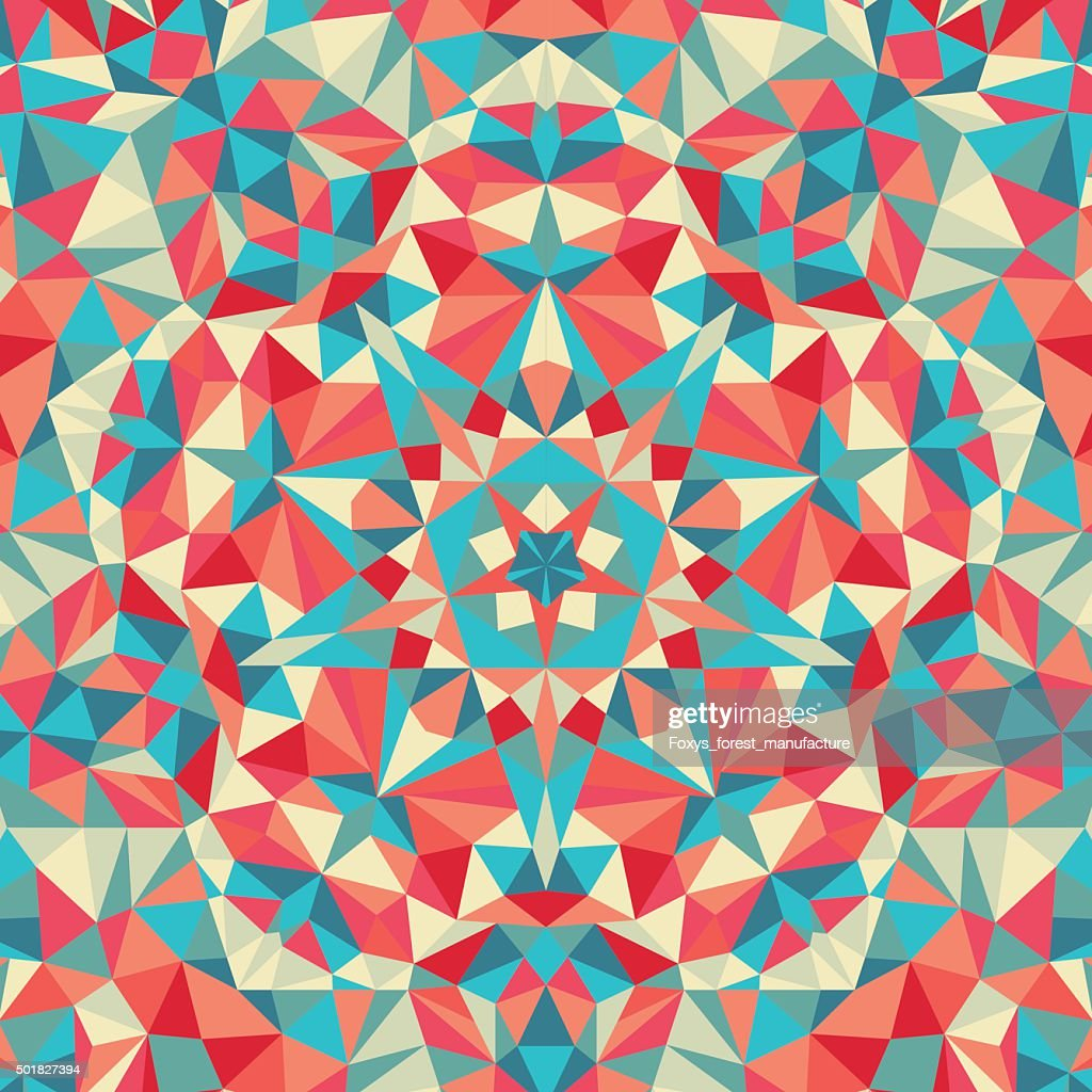 Kaleidoscope geometric colorful pattern. Abstract background