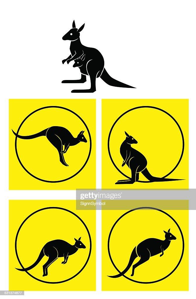 kangaroo Symbol Set