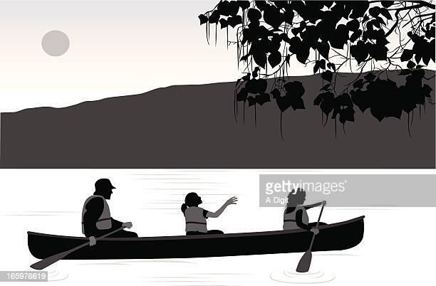 Kanoe Vector Silhouette