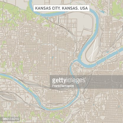 Kansas City Kansas Us City Street Map Stock Illustration ...