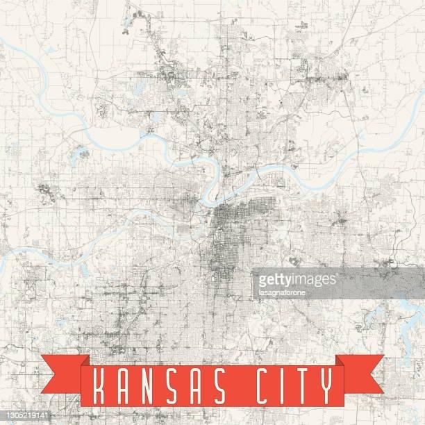 kansas city, missouri usa vector map - kansas city kansas stock illustrations