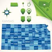 Kansas County Map
