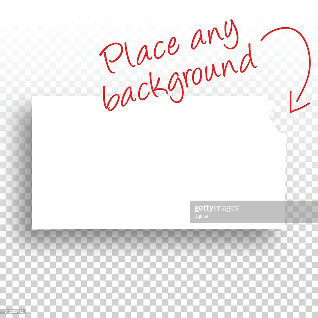 kansas map for design blank background vector art getty images
