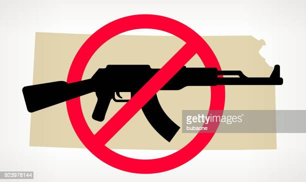 Kansas No arma violencia Vector Poster