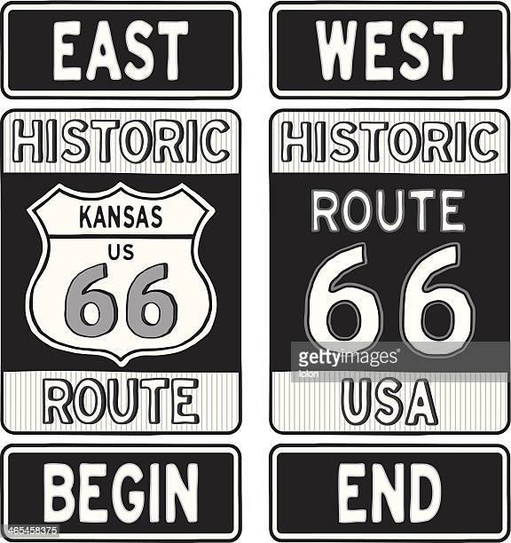 Kansas route 66-Straße Zeichen