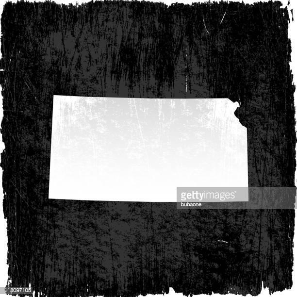 kansas state karte auf lizenzfreie vektor hintergrund - kansas stock-grafiken, -clipart, -cartoons und -symbole