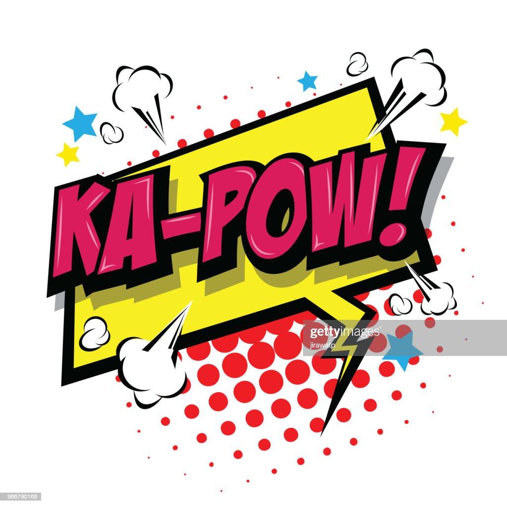 Ka-Pow! Comic Speech Bubble
