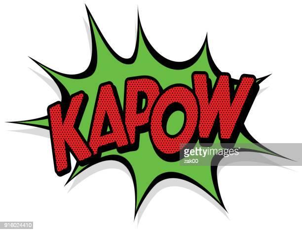 kapow effekt - einzelwort stock-grafiken, -clipart, -cartoons und -symbole