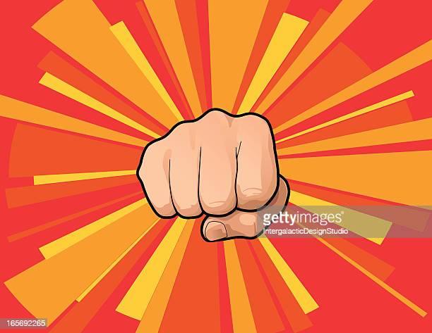 ka-pow! - punching stock illustrations