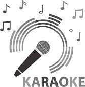 Karaoke, microphone, microphone icon.
