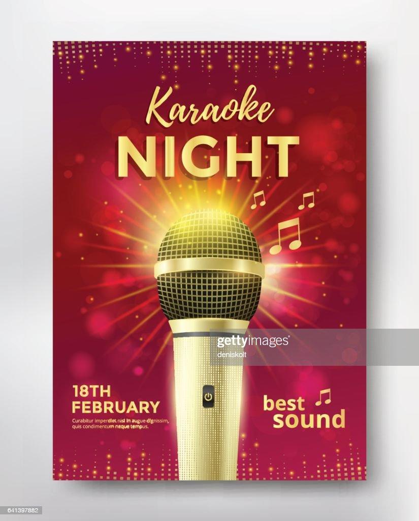 Karaoke party poster
