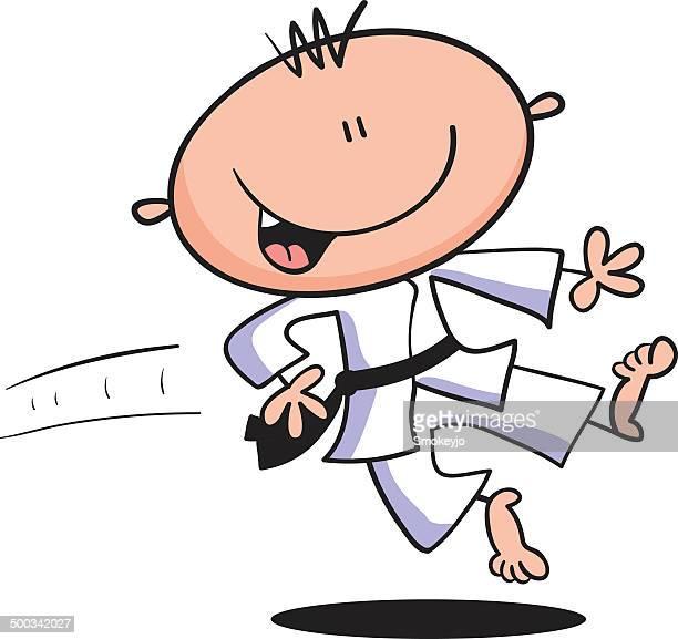 ilustrações de stock, clip art, desenhos animados e ícones de menino de karaté - judo