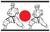 Karate image・man and woman
