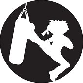 Karate Punch Bag Silhouette