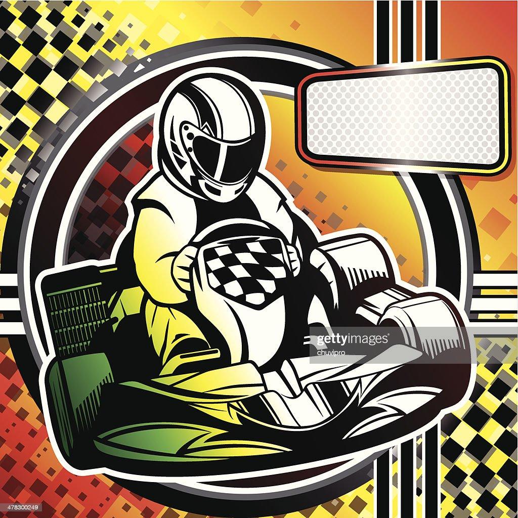 Kart Racing : stock illustration