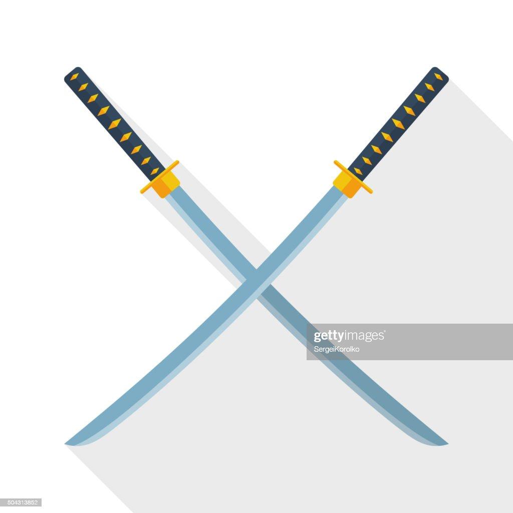 Katana swords icon