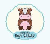 kawaii cartoon baby shower design