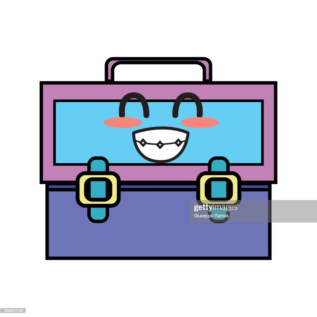 kawaii cute funny suitcase design