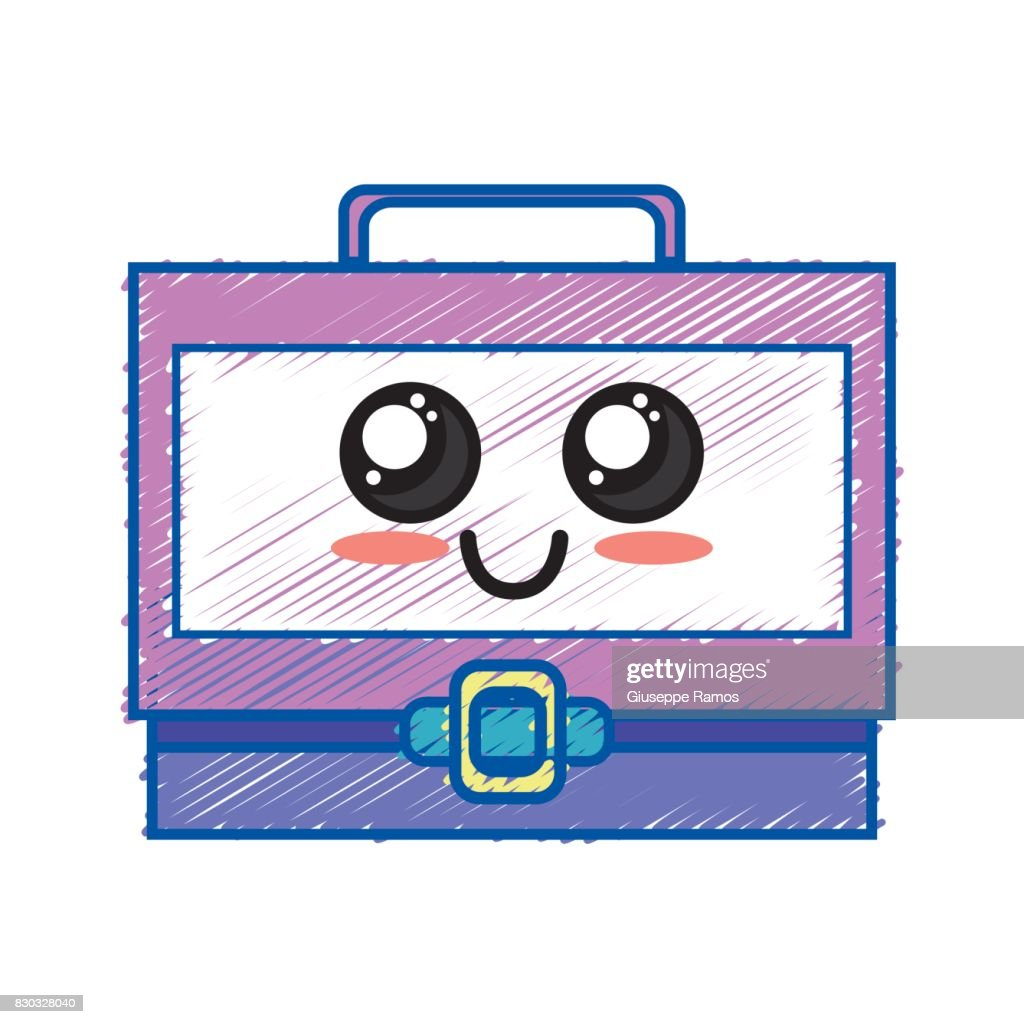 kawaii cute happy suitcase design