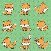 Kawaii foxes collection