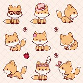 Kawaii foxes
