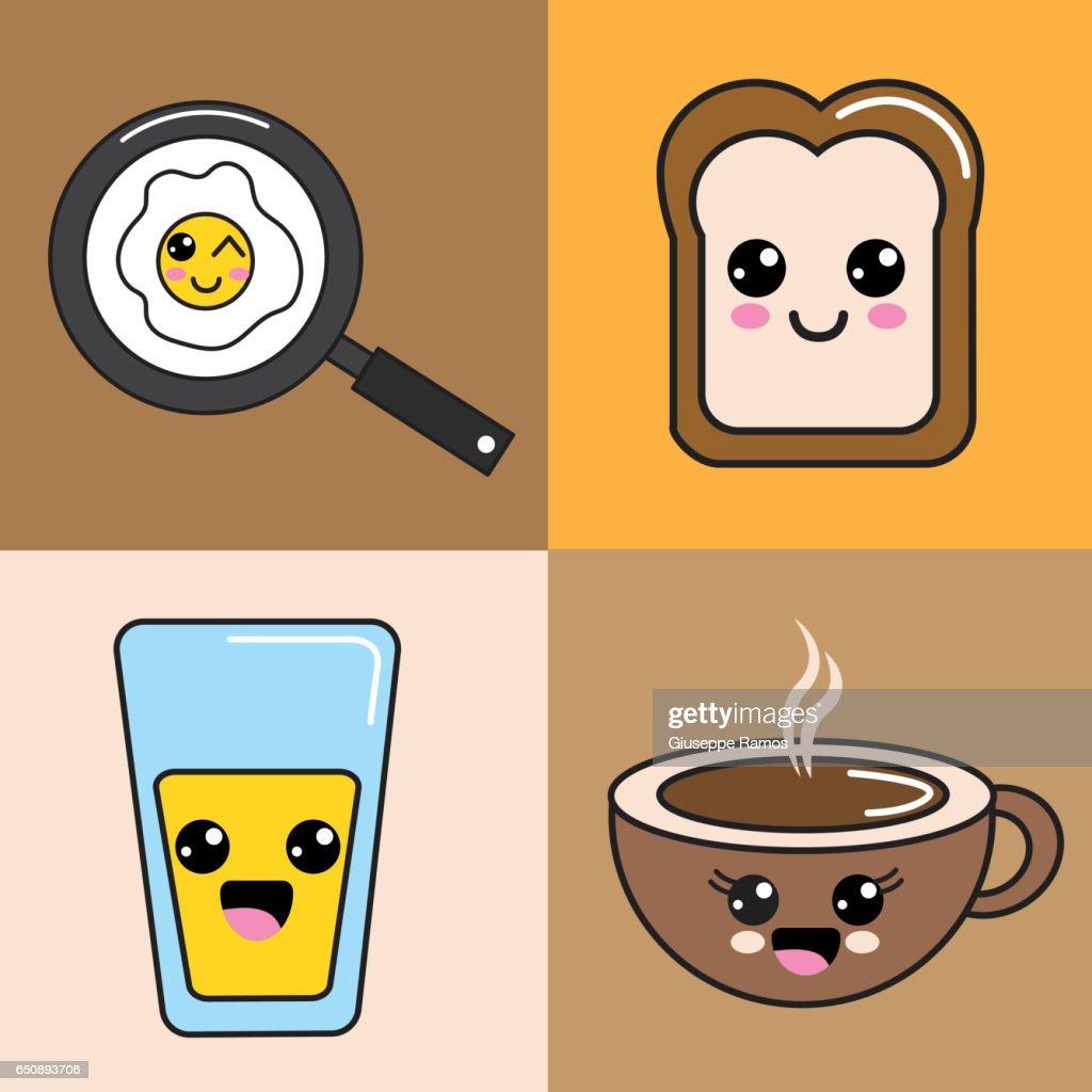 Icône De Bonne Nourriture Kawaii Illustration Getty Images