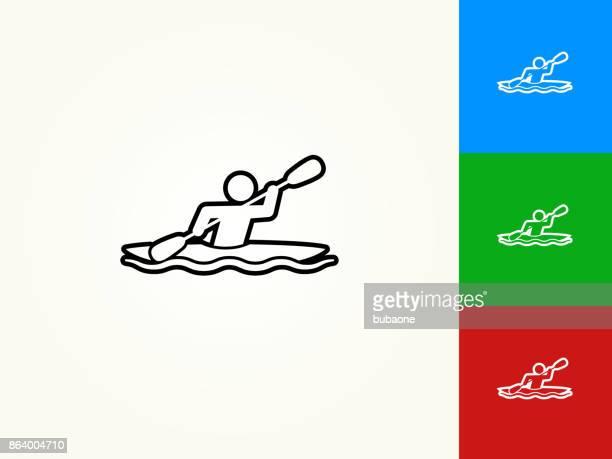 Kayak Black Stroke Linear Icon