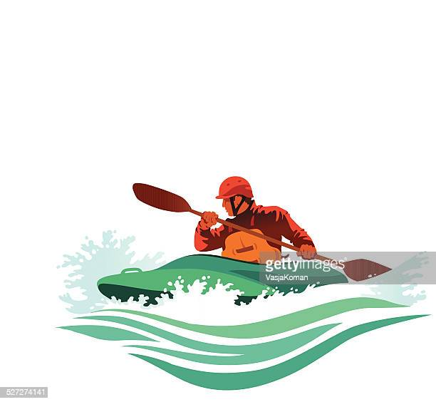 Kayaker Battles Treacherous White Water