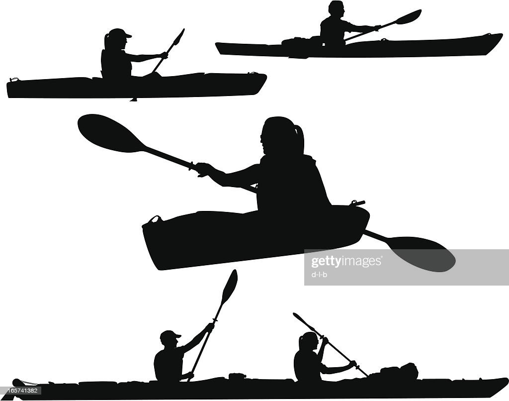 Kayaking Silhouettes