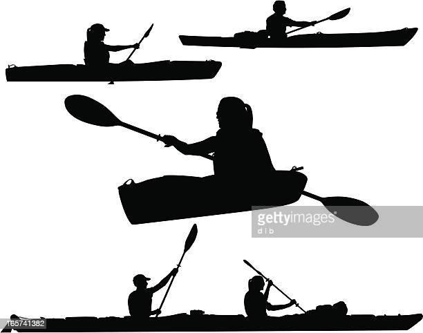 Kayaking Silhouettes
