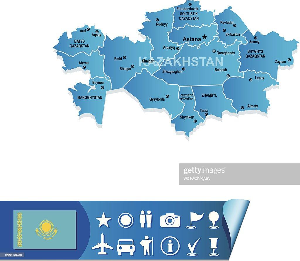 Kazakhstan Map Vector Art Getty Images