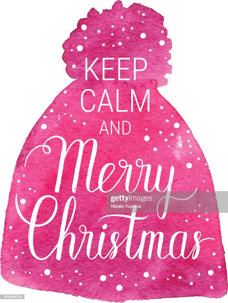 Keep Calm And Merry Christmas Poster Vector Winter Holidays ...