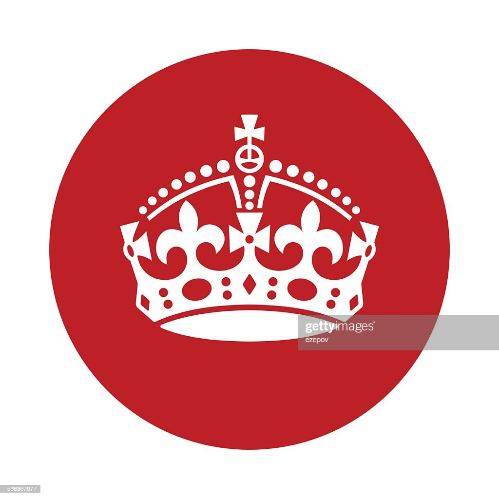 keep calm crown icon