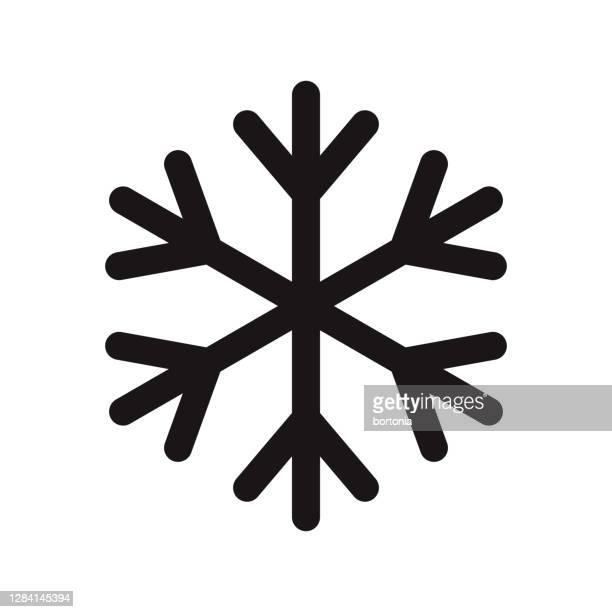 keep frozen icon on transparent background - snowflake shape stock illustrations