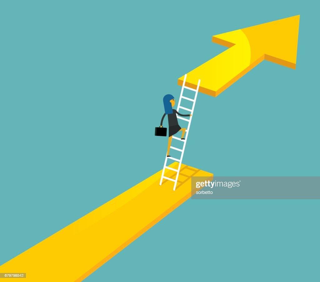 keep growing - businesswoman : stock illustration