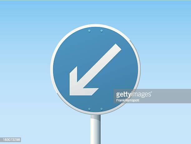 Halten Sie sich links, deutsche Schild-Blau