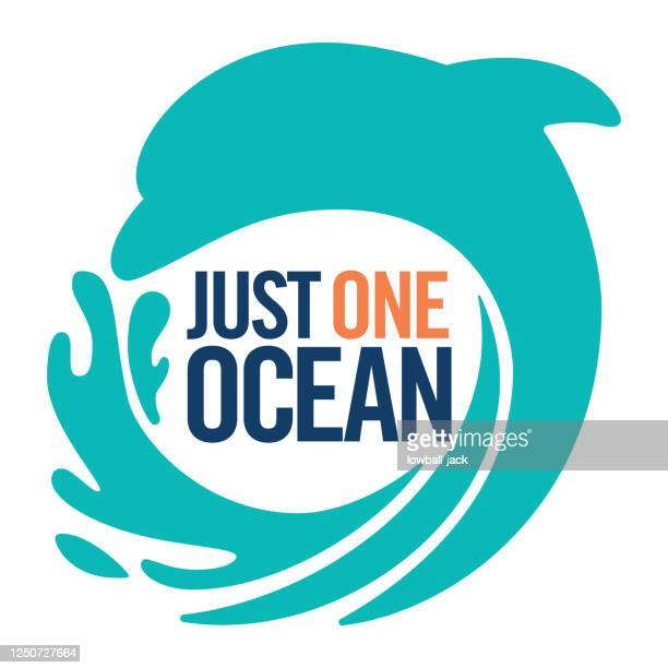 keep our oceans clean plastic. just one ocean. stop sea pollution flat icon vector stock illustration - water pollution stock illustrations