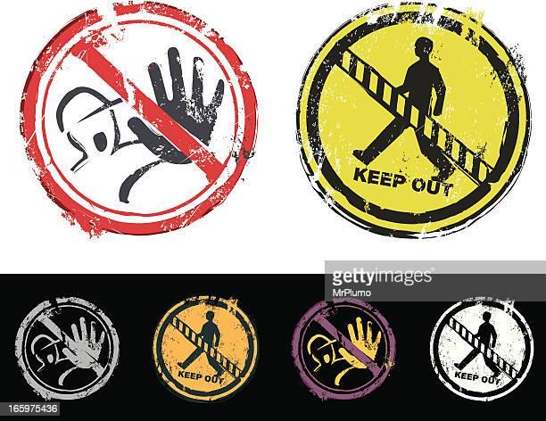 illustrations, cliparts, dessins animés et icônes de protéger et de ne pas saisir tampon encreur - panneau sens interdit