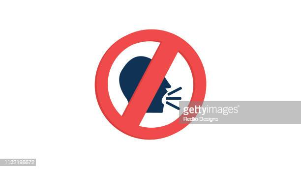 keep quiet silent please sign icon - forbidden stock illustrations