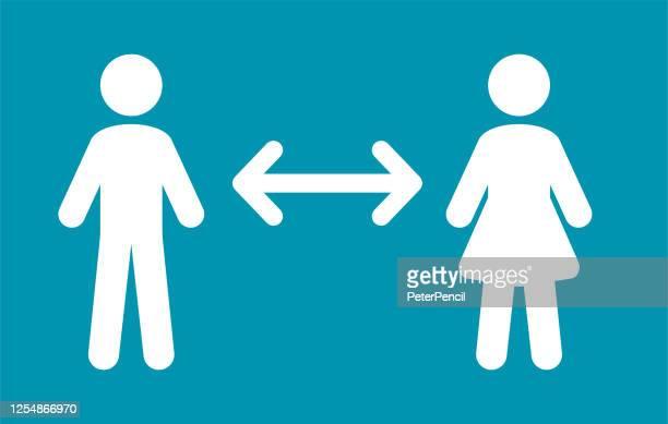 keep the distance. people icons. coronavirus vector illustration - distant stock illustrations